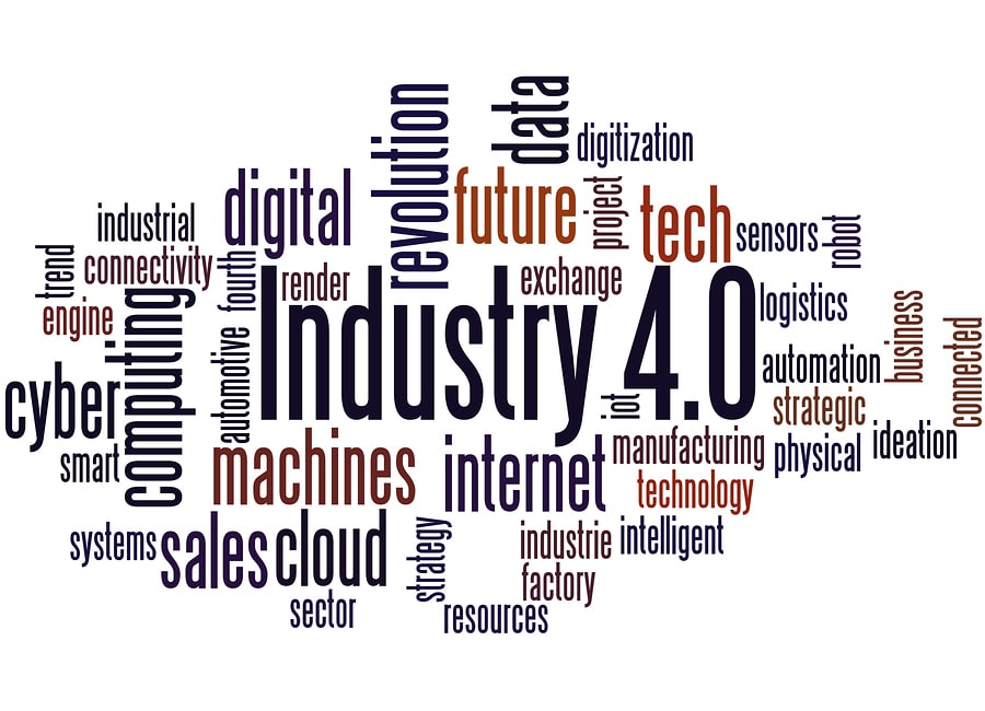 Wortwolke Industrie 4.0-Digitalisierung