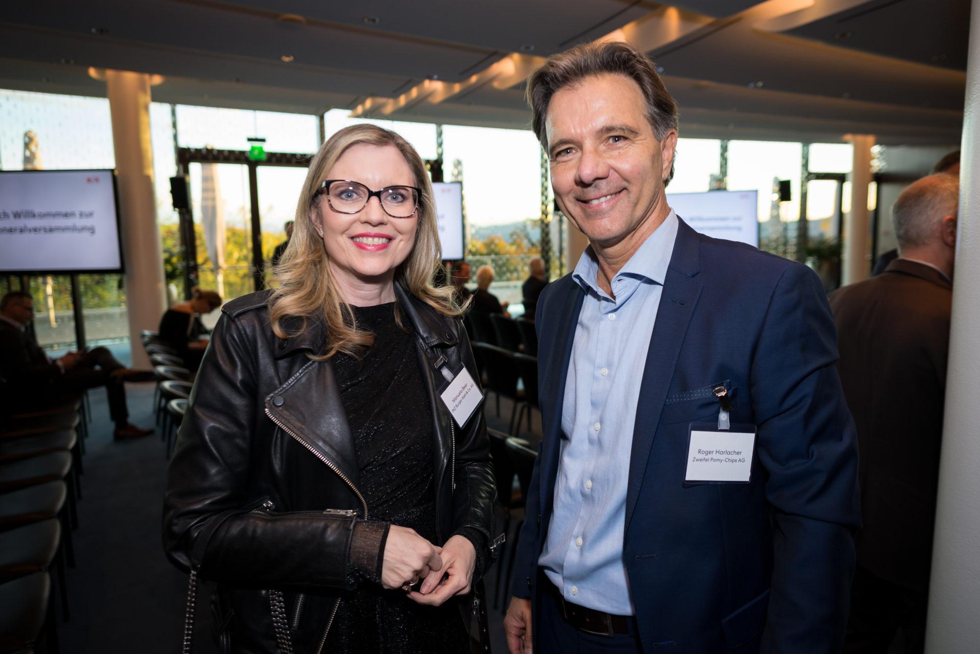 Manuela Beer (PKZ Burger-Kehl & Co. AG), Roger Harlacher (Zweifel Pomy-Chips AG)
