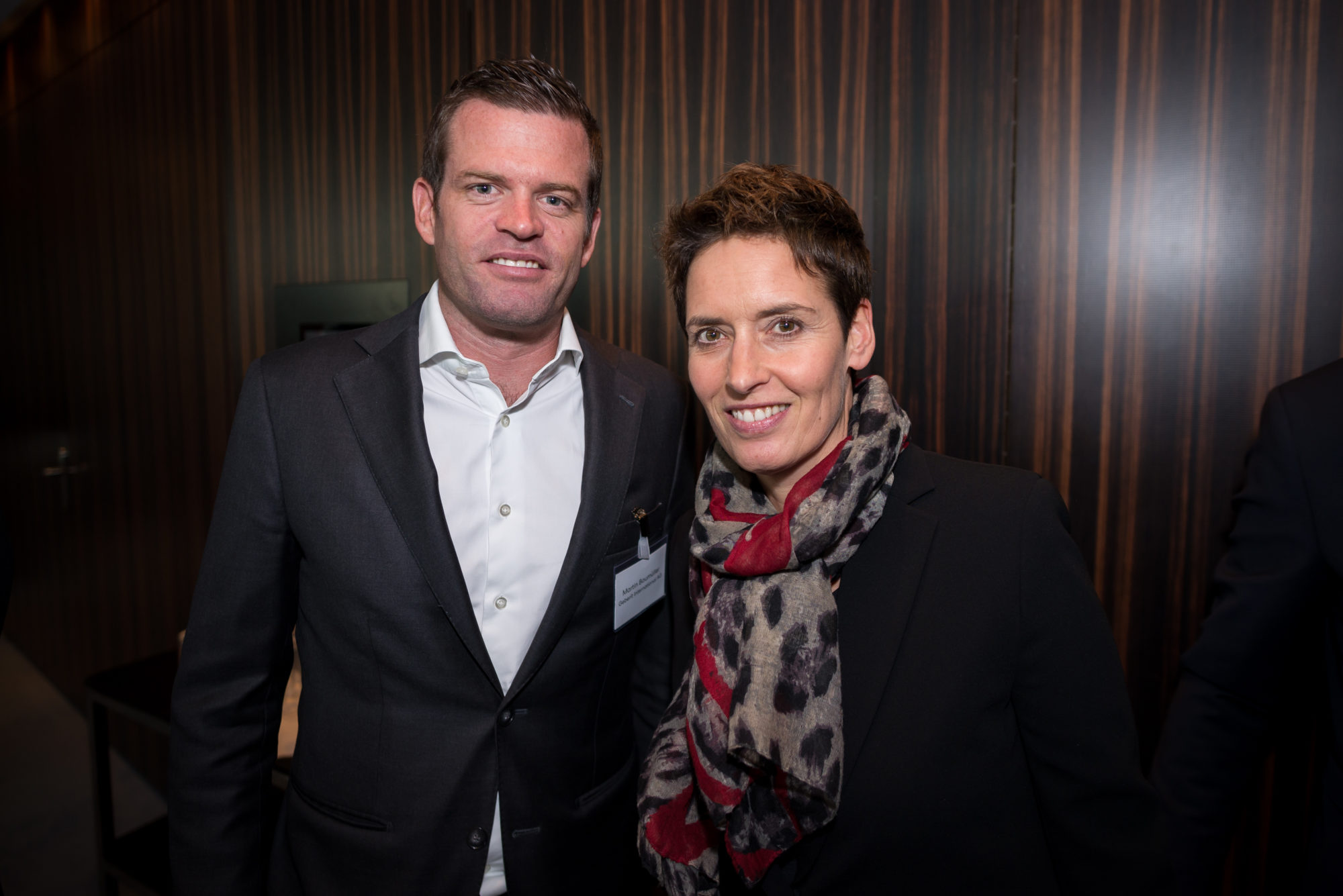 Martin Baumüller (Geberit International AG), Caroline Scherb (Swiss Re)