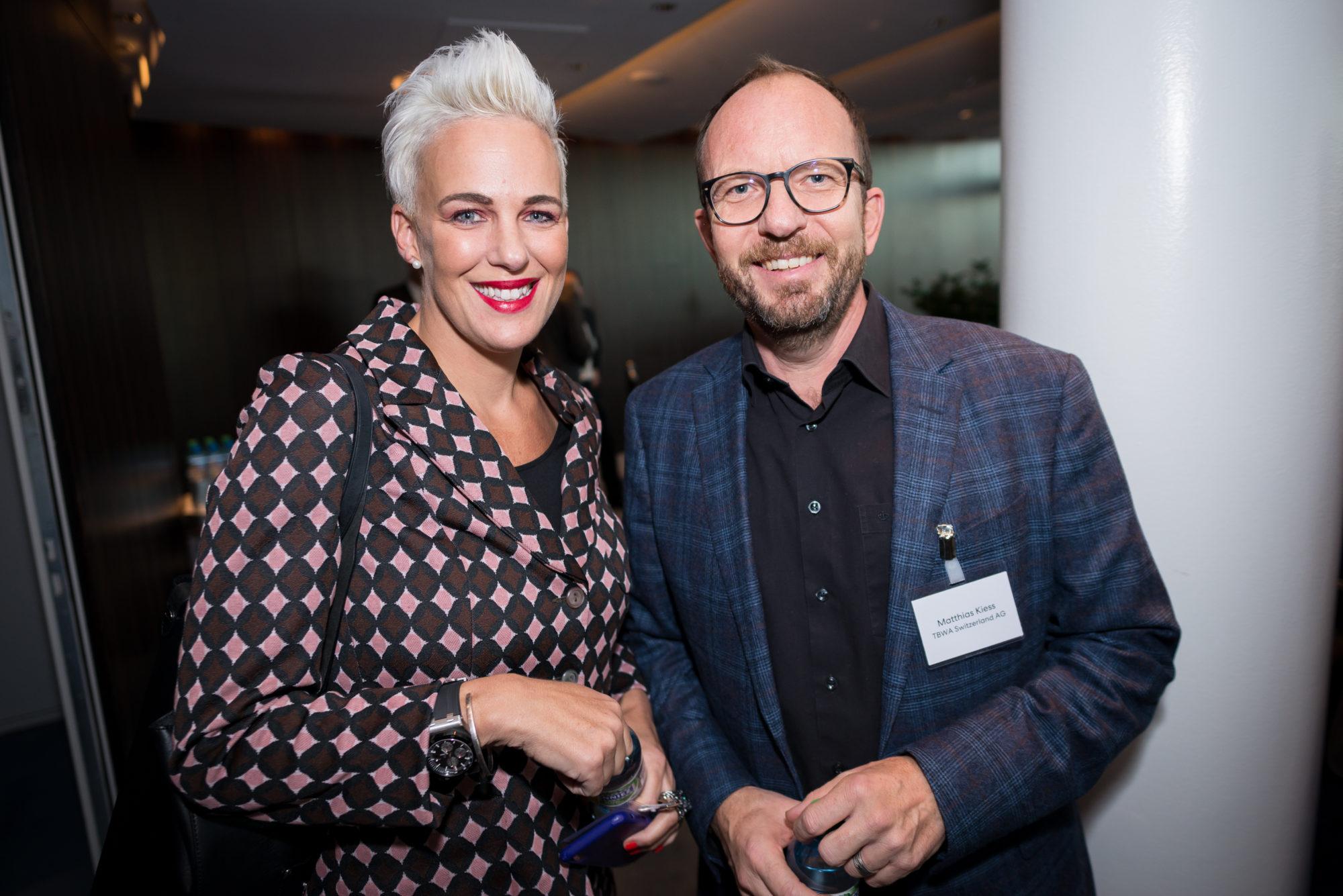 Nadine Borter (Contexta AG), Matthias Kiess (TBWA Switzerland AG)