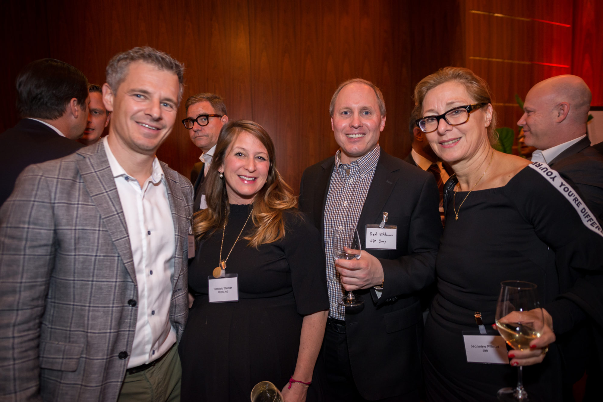 Philipp Sauber (Plan.Net Suisse AG), Daniela Steiner (FELFEL AG), Beat Bühlmann (GfM Jury), Jeannine Pilloud (SBB)