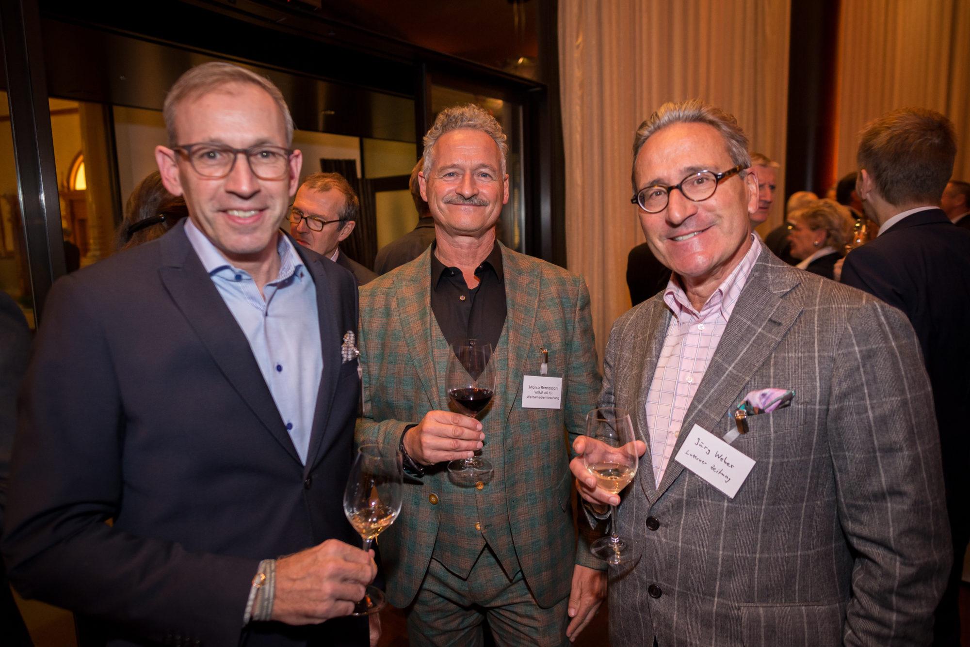 Philipp Wyss (Coop Genossenschaft), Marco Bernasconi (WEMF AG für Werbemedienforschung), Jürg Weber (Luzerner Zeitung)